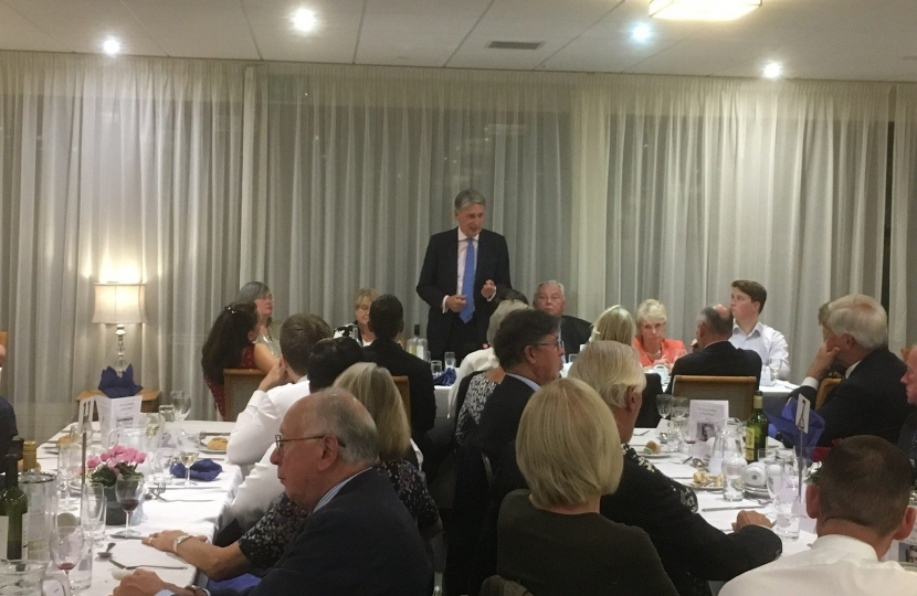 Chancellor Philip Hammond addresses our Annual Dinner